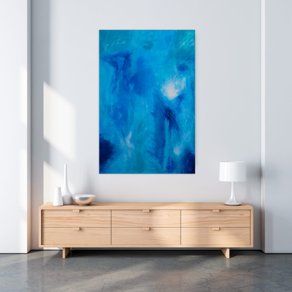 Canvas Painting over Sideboard
